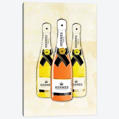 Hermes Champagne Canvas Print #PAV161} by Martina Pavlova Canvas Artwork