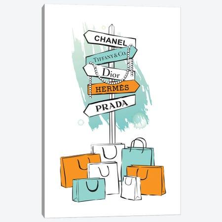 Shopping Sign Canvas Print #PAV165} by Martina Pavlova Art Print