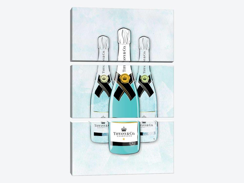 Tiffany Champagne by Martina Pavlova 3-piece Canvas Art Print