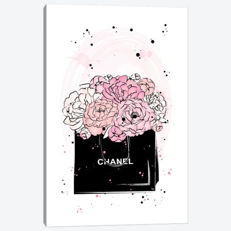 Chanel Peonies Canvas Print #PAV16} by Martina Pavlova Canvas Wall Art