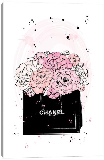 Chanel Peonies Canvas Art Print