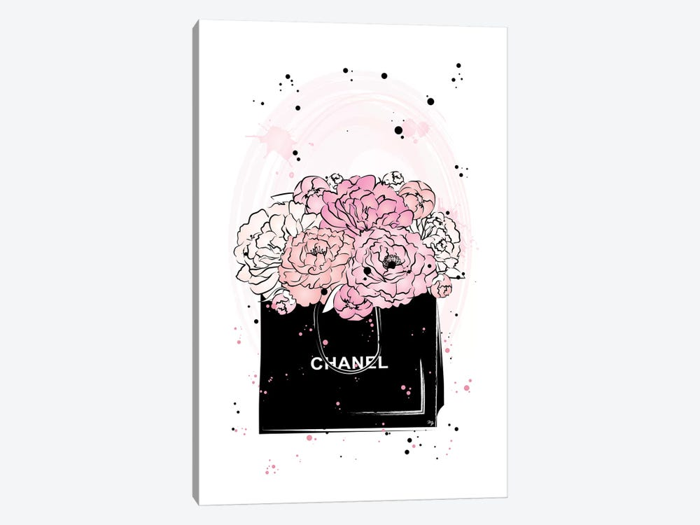 Chanel Peonies by Martina Pavlova 1-piece Canvas Artwork