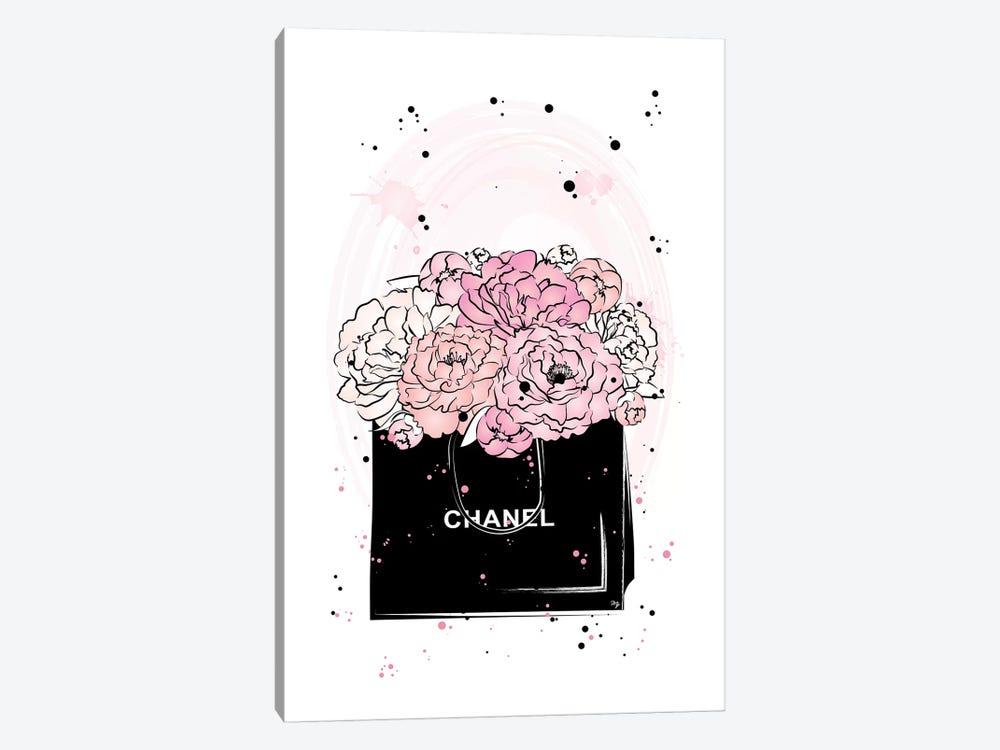 Chanel Peonies by Martina Pavlova 1-piece Canvas Artwork