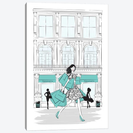 Tiffany Shop New York Canvas Print #PAV172} by Martina Pavlova Canvas Print