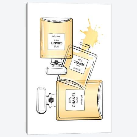 Chanel Perfumes Canvas Print #PAV17} by Martina Pavlova Canvas Artwork