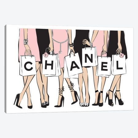 Chanel Shopping I Canvas Print #PAV18} by Martina Pavlova Canvas Print