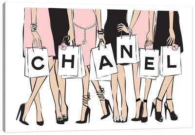 Chanel Shopping I Canvas Art Print