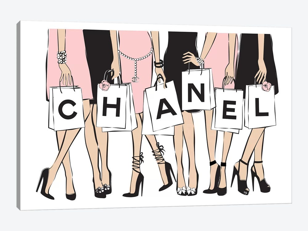 Chanel Shopping I 1-piece Canvas Wall Art