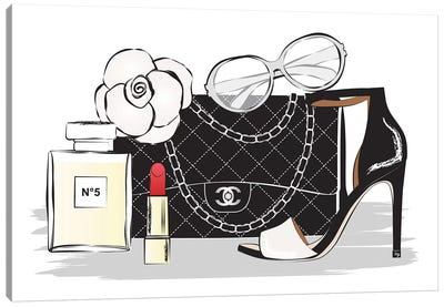 Chanel Style Canvas Art Print
