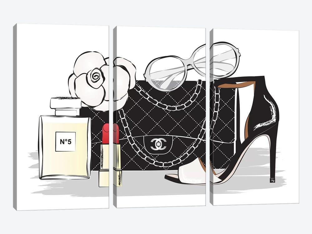Chanel Style by Martina Pavlova 3-piece Canvas Print