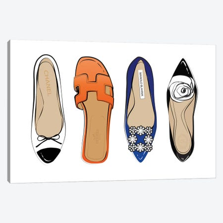 Designer Shoes Canvas Print #PAV20} by Martina Pavlova Canvas Art