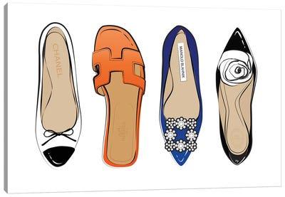 Designer Shoes Canvas Art Print