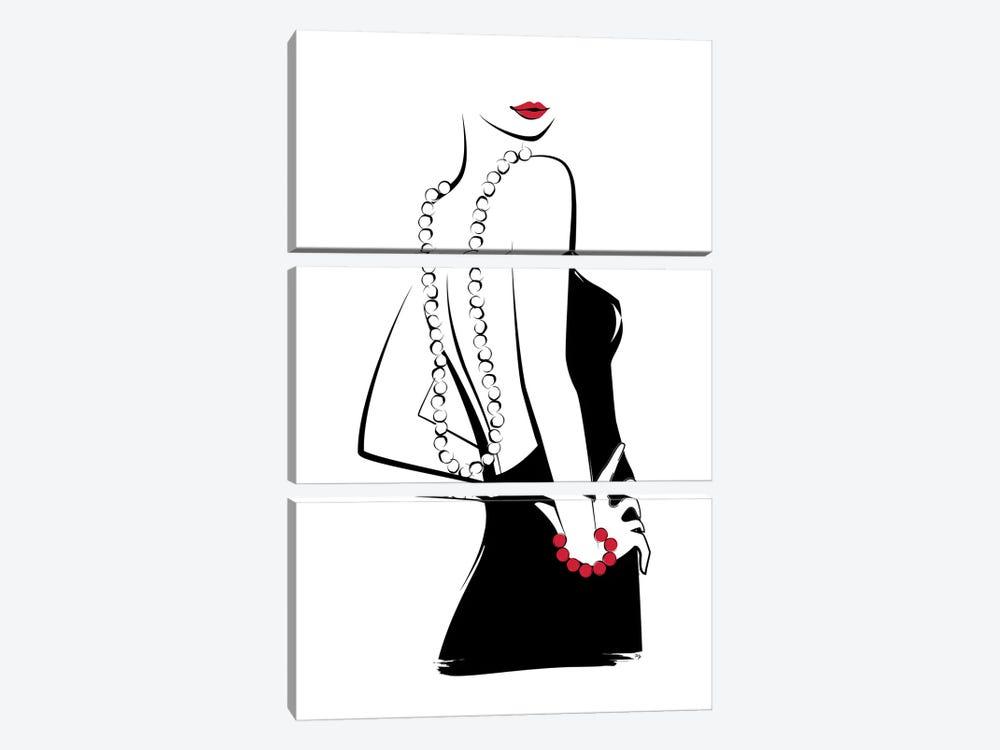 Back Off by Martina Pavlova 3-piece Canvas Wall Art