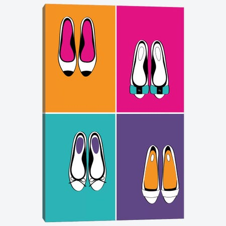 Bold Flats Canvas Print #PAV220} by Martina Pavlova Art Print