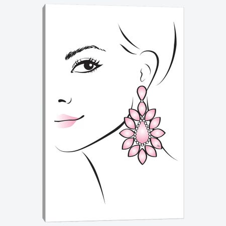 Earring Canvas Print #PAV225} by Martina Pavlova Canvas Artwork