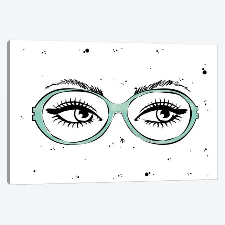 Eye Glasses Canvas Print #PAV227} by Martina Pavlova Canvas Wall Art