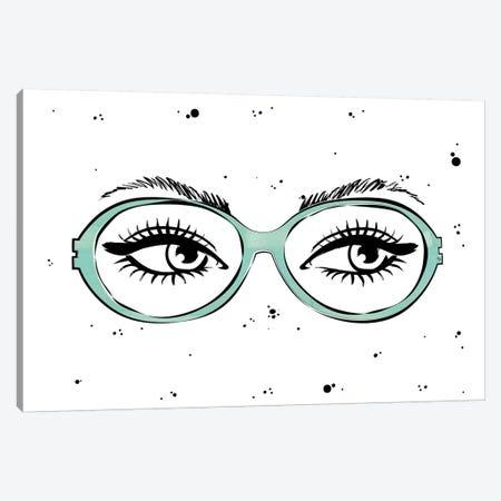 Eye Glasses Canvas Print #PAV227} by Martina Pavlova Canvas Wall Art