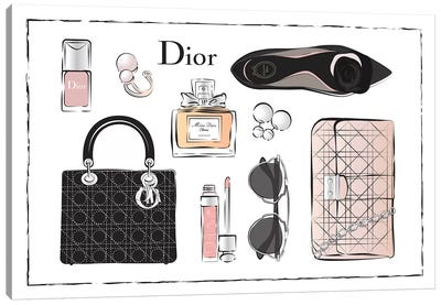 Dior Accessories Canvas Art Print