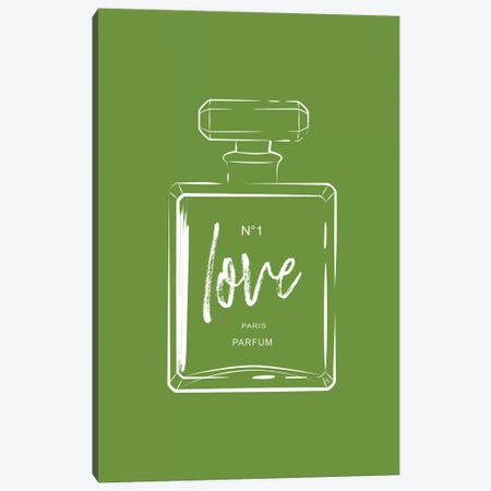 Green Love Perfume Canvas Print #PAV233} by Martina Pavlova Canvas Art