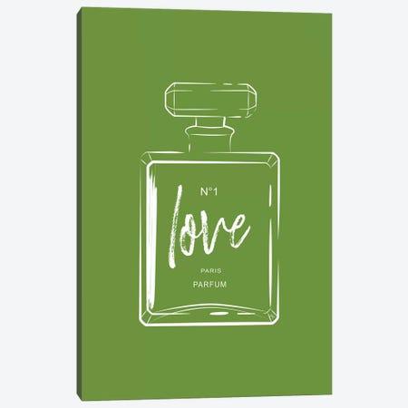 Green Love Perfume Canvas Print #PAV233} by Martina Pavlova Canvas Art