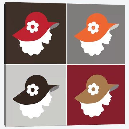 Hat Gals I Canvas Print #PAV235} by Martina Pavlova Canvas Art Print