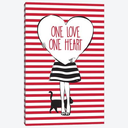 Heart Girl 3-Piece Canvas #PAV237} by Martina Pavlova Canvas Print