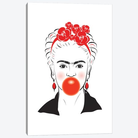 Frida Canvas Print #PAV23} by Martina Pavlova Canvas Wall Art