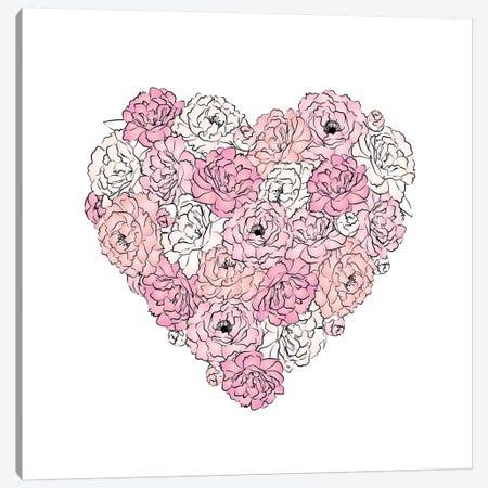 Peony Heart Canvas Print #PAV249} by Martina Pavlova Canvas Art Print