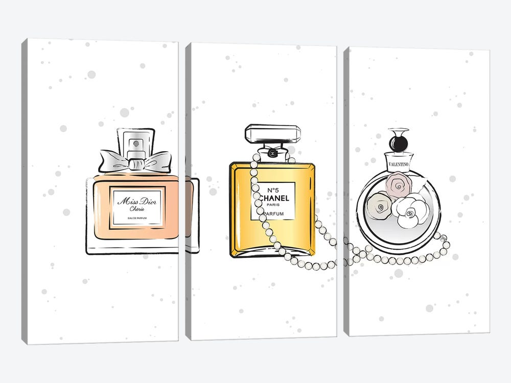 Perfumes by Martina Pavlova 3-piece Art Print