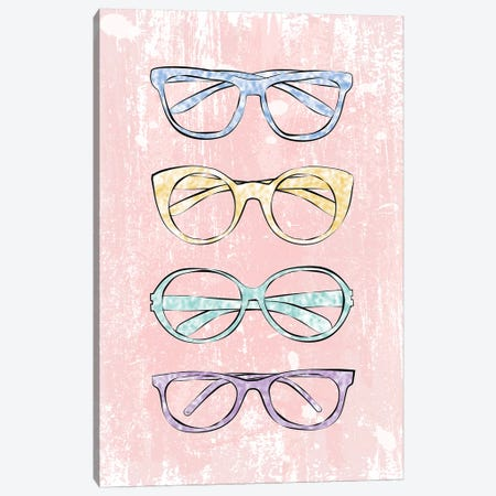 Pink Glasses Canvas Print #PAV253} by Martina Pavlova Canvas Art