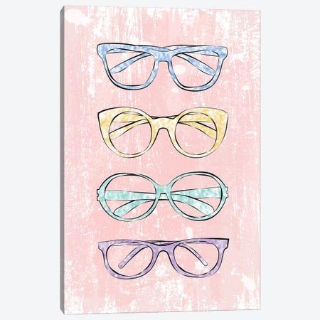 Pink Glasses Canvas Print #PAV253} by Martina Pavlova Canvas Art