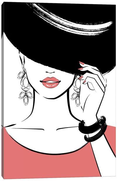 Hat Lady I Canvas Art Print