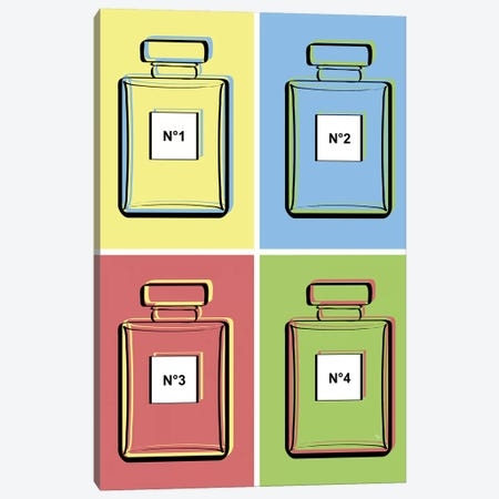 Warhol Perfumes Canvas Print #PAV260} by Martina Pavlova Canvas Art Print