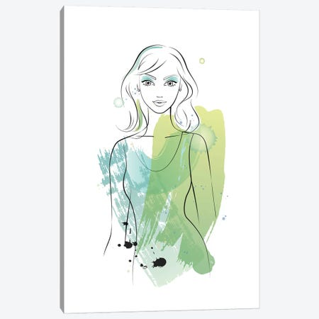 Water Girl Canvas Print #PAV262} by Martina Pavlova Art Print
