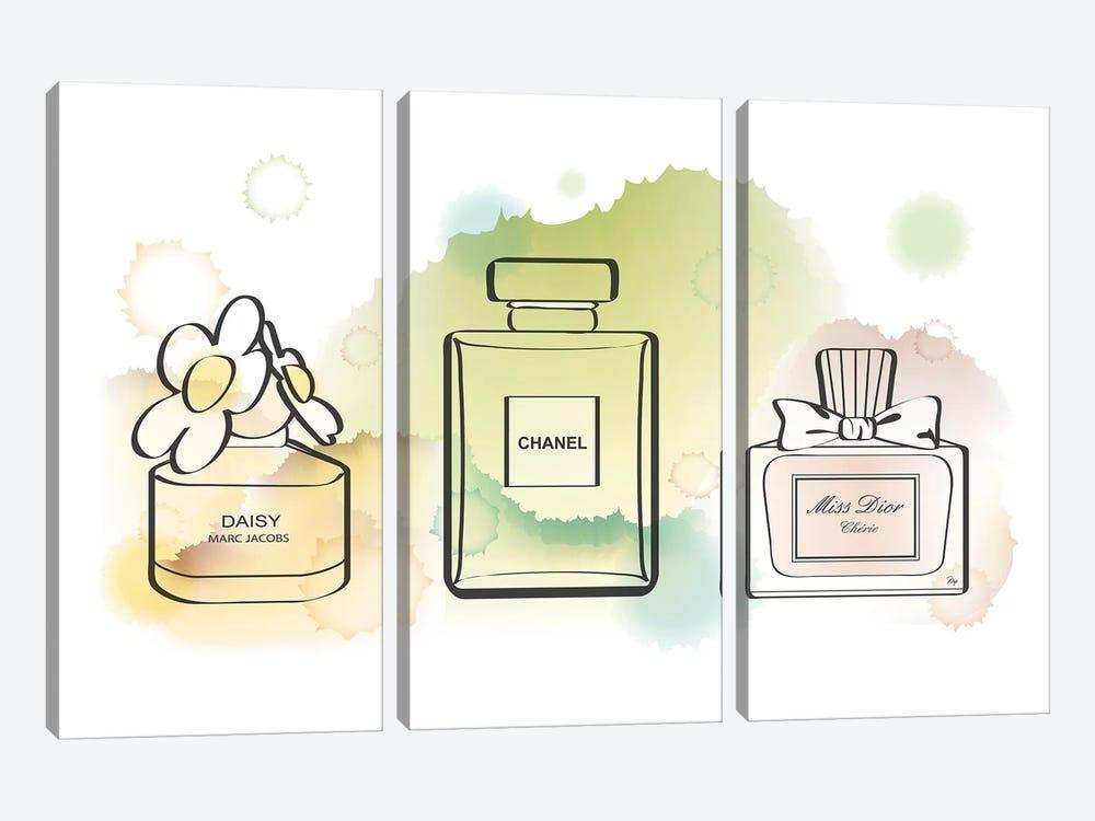 Water Perfume by Martina Pavlova 3-piece Canvas Art Print
