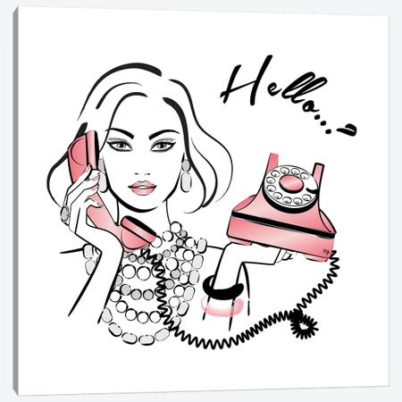 Hello..? Canvas Print #PAV26} by Martina Pavlova Canvas Art Print