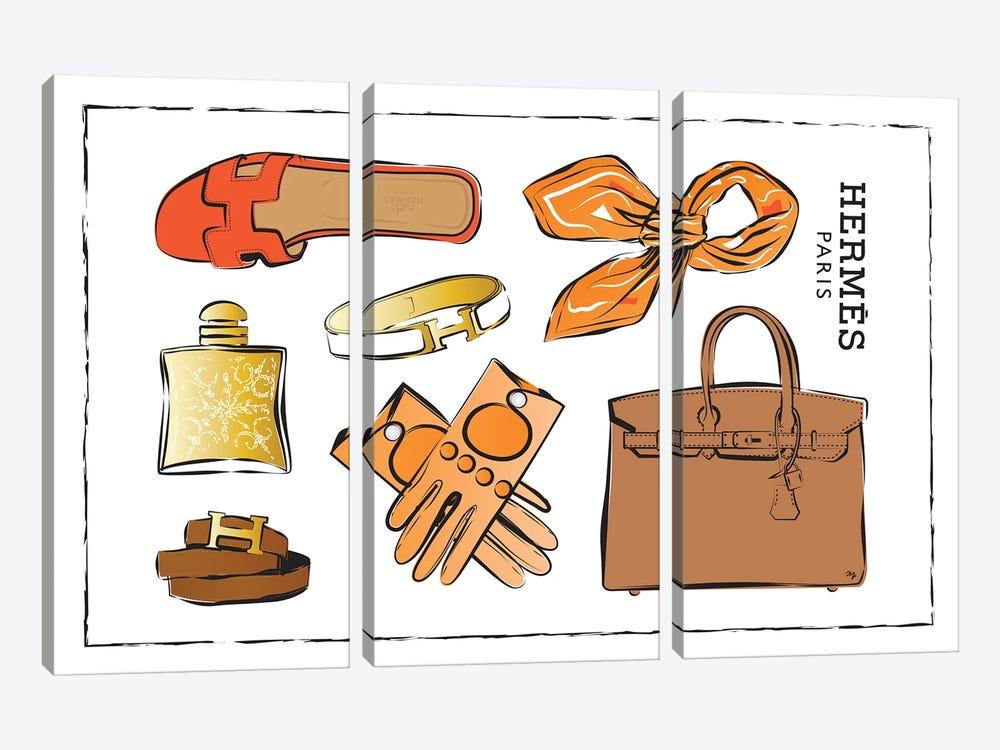 Hermes Accessories by Martina Pavlova 3-piece Canvas Art