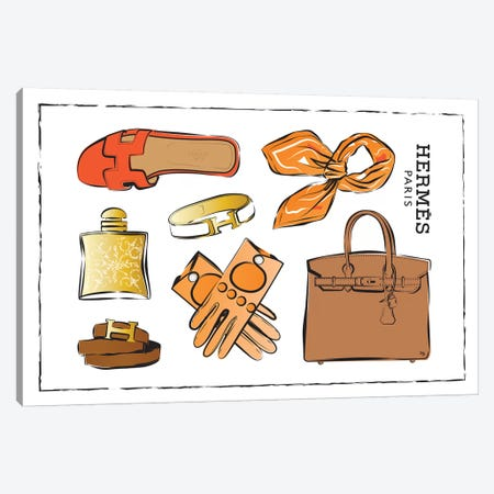 Hermes Accessories Canvas Print #PAV27} by Martina Pavlova Canvas Art Print