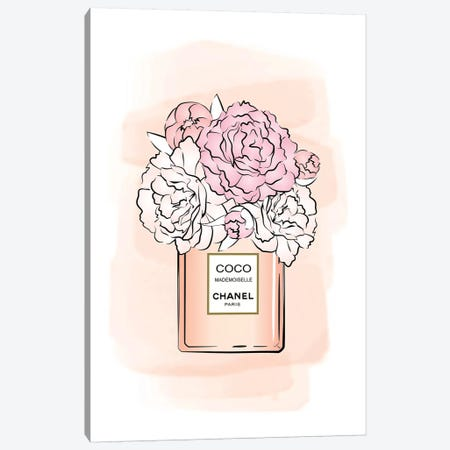 Bloom Coco Pink Canvas Print #PAV285} by Martina Pavlova Canvas Artwork