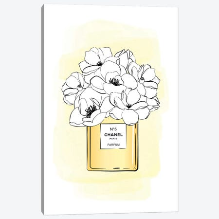 Bloom No5 Gold Canvas Print #PAV288} by Martina Pavlova Canvas Print