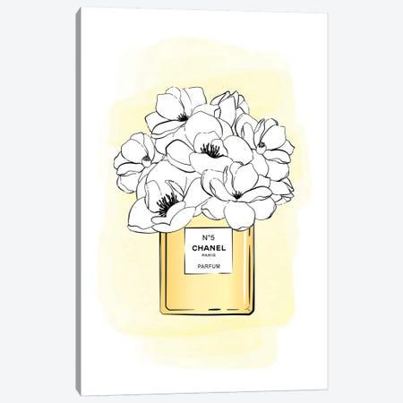 Bloom No5 Gold Canvas Print #PAV288} by Martina Pavlova Canvas Print
