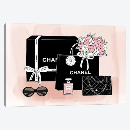 Chanel Bags Canvas Print #PAV295} by Martina Pavlova Canvas Art Print
