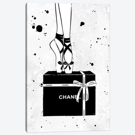 Chanel Ballerina Canvas Print #PAV296} by Martina Pavlova Art Print