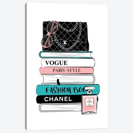 Chanel Books Canvas Print #PAV299} by Martina Pavlova Canvas Art