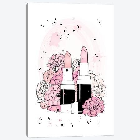 Lipstick Peonies Canvas Print #PAV29} by Martina Pavlova Canvas Artwork