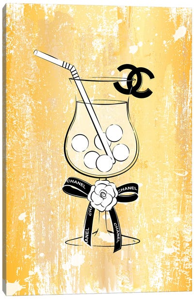 Chanel Drink Gold Canvas Art Print