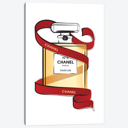 Chanel Ribbon Canvas Print #PAV308} by Martina Pavlova Canvas Wall Art