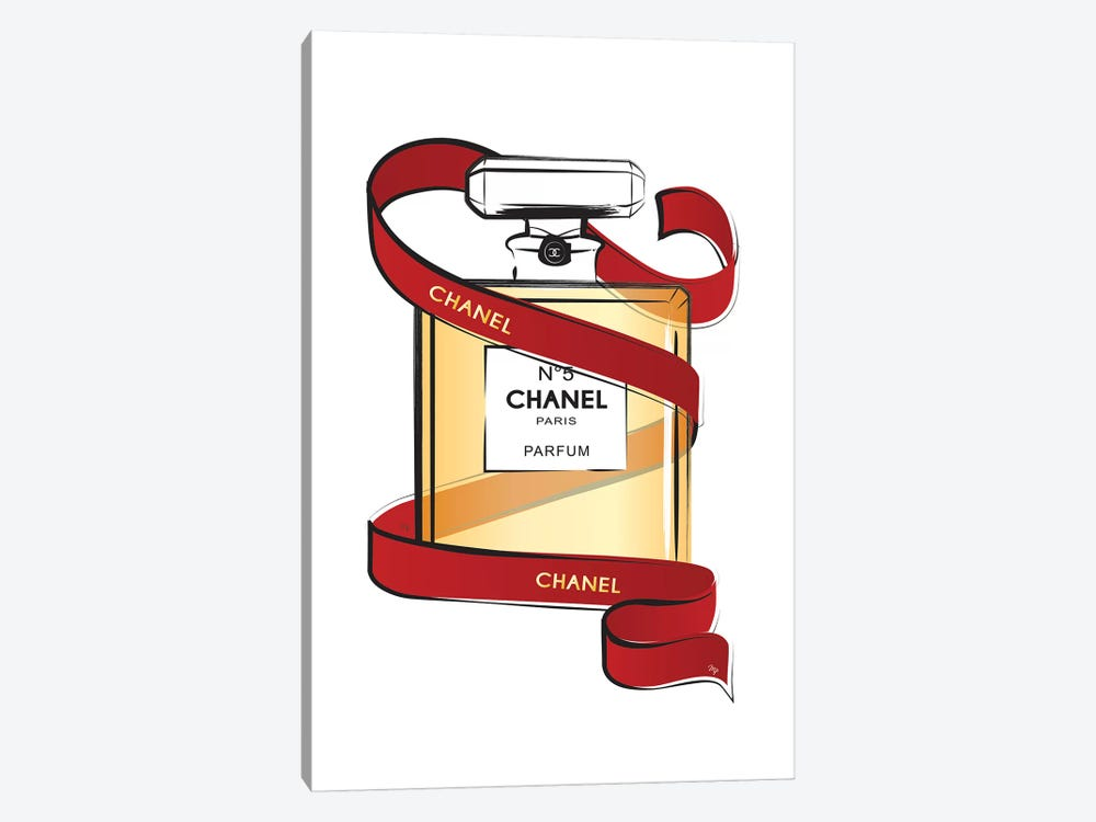 Chanel Ribbon by Martina Pavlova 1-piece Canvas Art