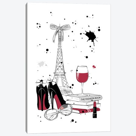 Living In Paris Canvas Print #PAV30} by Martina Pavlova Art Print