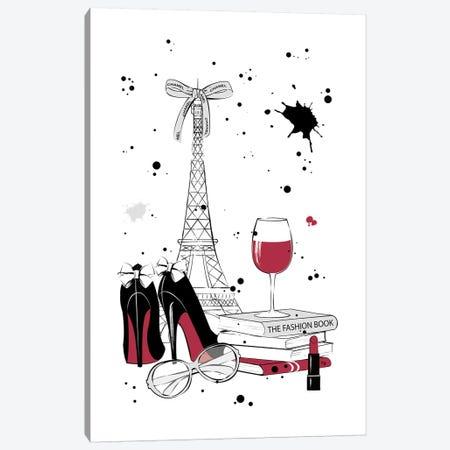Living In Paris Canvas Print #PAV30} by Martina Pavlova Art Print